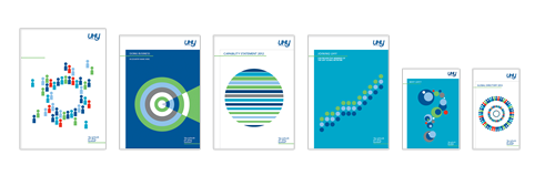 Examples of the new UHY branding